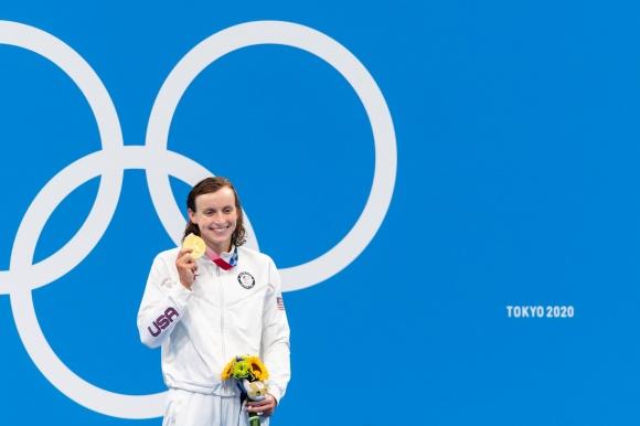 Katie Ledecky kunde ta guldet på 8900m fritt