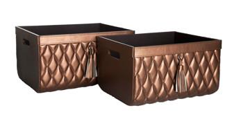 Basket - Basket - Set of two - Copper