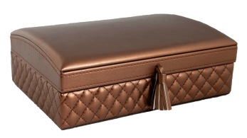Jewelry Box Large - Jewelry box with mirror - Copper