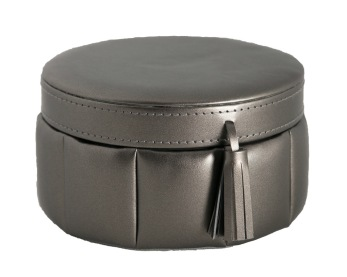Jewelry Box Medium - Jewelry box round - Metallic