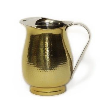 Lyxig kanna - Pitcher - Brass - Hammered