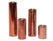 Set/4 ljuscylindrar - Candle stick - Copper - Hammered