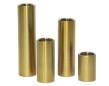 Set/4 ljuscylindrar - Candle stick - Brass - Brushed