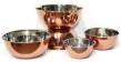 Set/5 skålar i ädelmetall - Bowls - Copper - Hammered