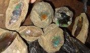 Opal i matrix. Wegeltena, Etiopien 2010.