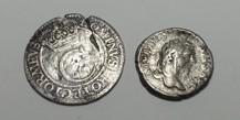 Silvermynt: 4 öre, Karl XI + Dinar, Septimus Severus.