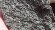 Kimberlit är den viktigaste bergarten för diamantfyndigheter. Det finns en del kimberlit även i Sverige. Denna bit är från en fyndighet utanför Kalix, dock utan diamanter.