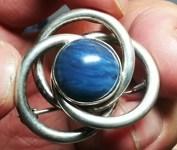 Blå Bergslagssten infattad i silver.