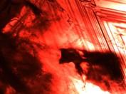 Syntetisk fluss rubin tillverkad av Chatham.