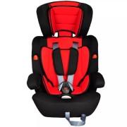 Bilbarnstol med säkerhetsbälte röd/svart