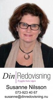 Din Redovisning i Varberg AB, Susanne är diplomerad redovisningskonsult som erbjuder företag i Tvååker hjälp med ekonomisk rådgivning, deklaration, bokföring, bokslut, årsredovisning