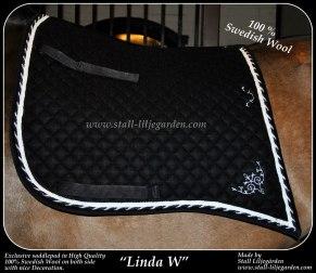 Linda W - Svart / silver
