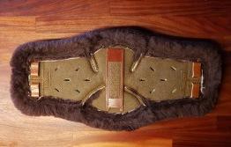 XpandGirth Tillbehör - Brunt Läder/Mörkbrunt fårskinn