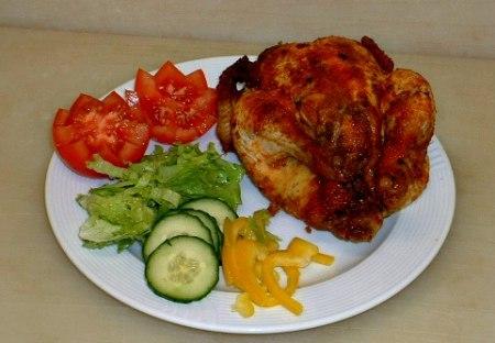 Art nr:2406 Grillad Kyckling hel, 240 Grillad Kyckling halv
