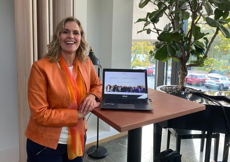 Anneli Egestam, en av föreläsarna på seminariet Boosta din försäljning, på Råda Rum hösten 2020.