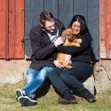 """Familjen Anna Konradsson med """"Zelda"""" Miss Brun"""