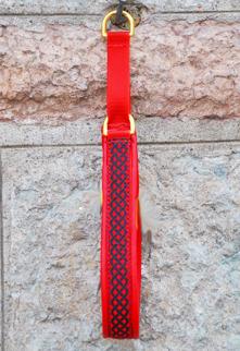 Röd Keltisk fläta smal