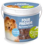 Perfekt belöningsgodis för alla hundar. Mjuka smakfulla bitar som hundarna älskar Kycklingkött 59%, Kycklinglever