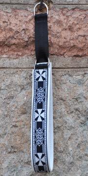Keltisk kors svart-silver