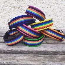 SUPER läckra Pridehalsband / svart skinn