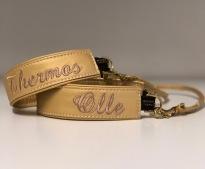 Guld skinn med Champange text