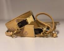 Spännen i metal- guld  även koppel i guldskinn