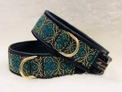 NYHET! Ringblomma i 2 olika läckra gröna nyanser & Guld. Bredd 4 cm