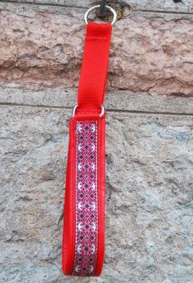 Alviskt röd-silver Totalbredd 3 cm