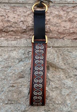 Keltisk Brun/creme Kringla Totalbredd 3,5 cm