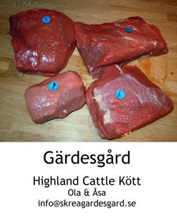 Närproducerat nötkött från egen gård - Highland Cattlekött från Skrea Gärdesgårds egna djur utanför Falkenberg