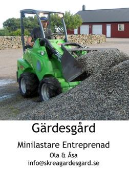 Entreprenadtjänster med Avant minilastare från Skrea Gärdesgård utanför Falkenberg