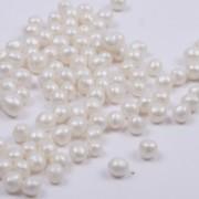 Mjuka pärlemopärlor - Vita