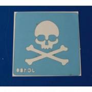 Stencil - Scull and Bones