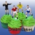 Fotbollscupcakes