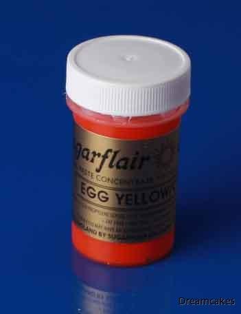Pastafärg gul