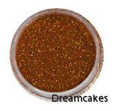 Orange hologram, glitter för tårta och cupcakes, halloweendekorationer, halloweentårta,