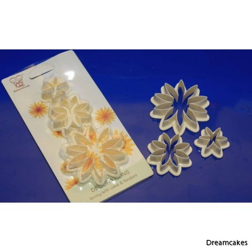 Daisy utstickare, sockerblommor, blomutstickare, blommor till tårta