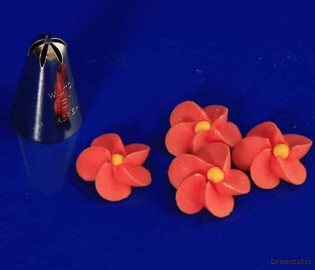 tyll för enkla blommor i kristyr för tårtdekoration