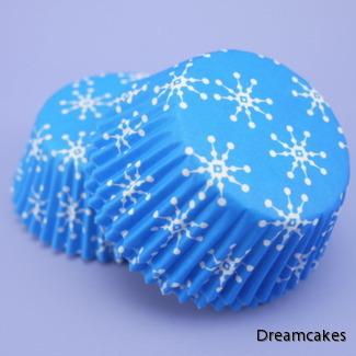 muffinsformar med snöflingor, vintercupcakesformar, cupcakesformar, vintermuffins, frost, frozen