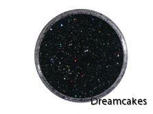 ätbart svart glitter för tårta och muffins, svart glitter, ätbart glitter