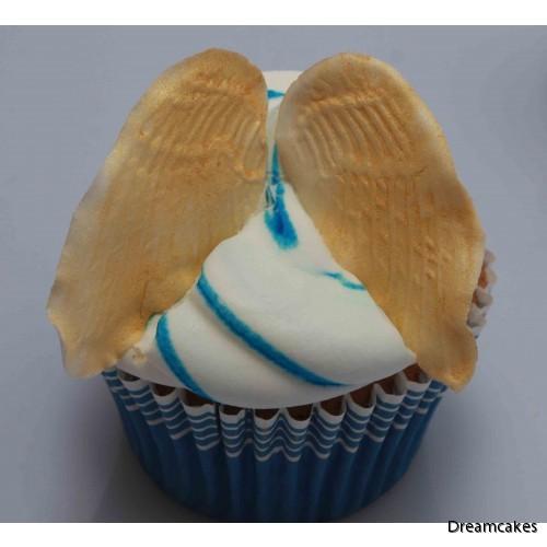 Änglavingar blir fint på en cupcake/muffins