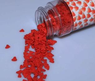 Figurströssel - Små röda hjärtan