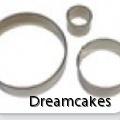 Metallutstickare, pepparkaksform rund, runda utstickare till cupcakes, utstickare runda