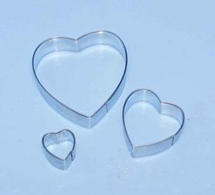Heart Cutter metall - 3pack