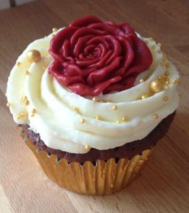 Cupcake med ros
