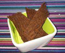 Chokladkolasnittar smaksatta med lakritzessence