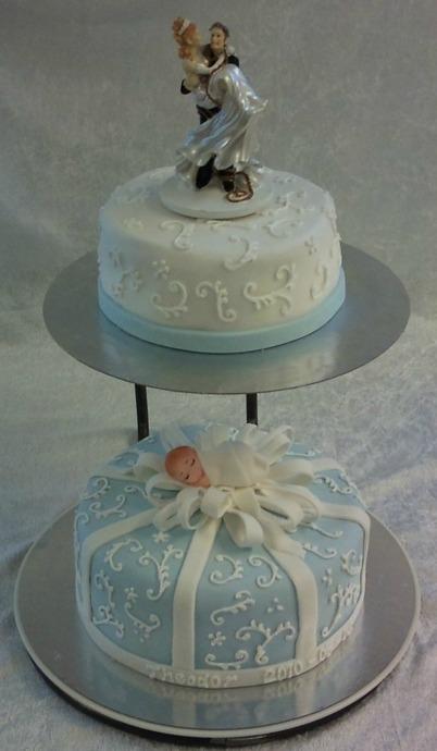 Kombinerad Bröllopstårta och Doptårta