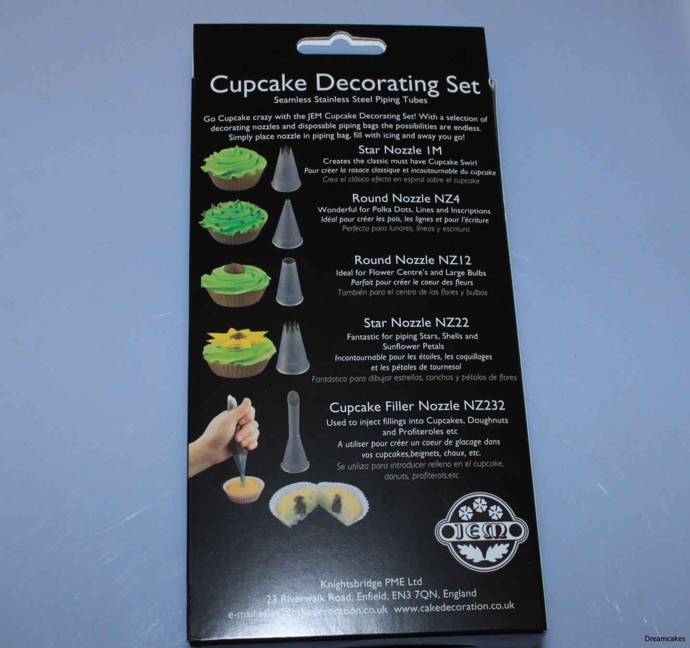 spritsset för muffins, cupcakes och tårtdekoration