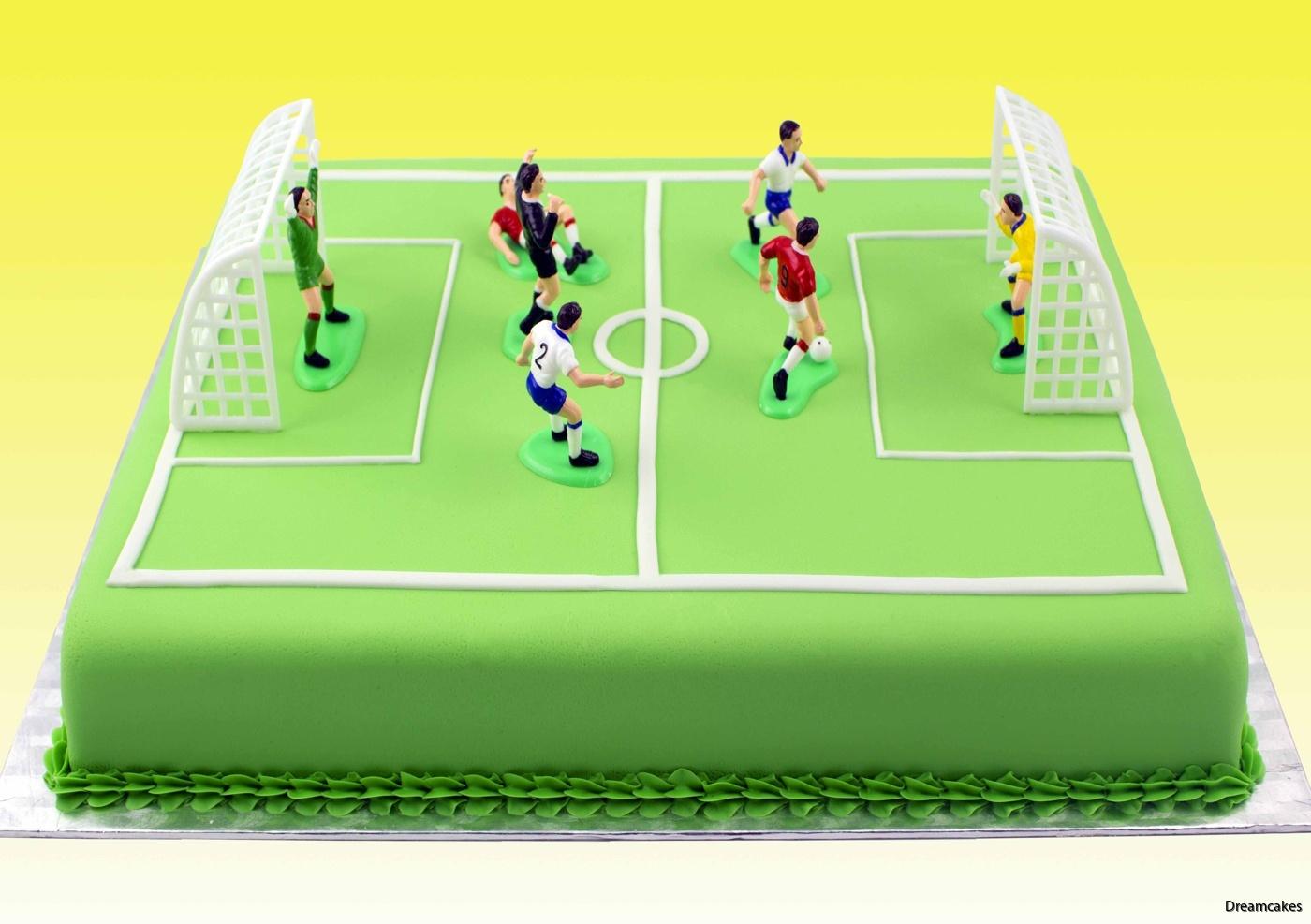 Fotbollsfigurer till tårta