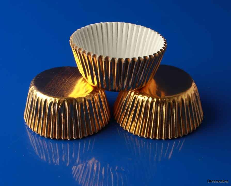Minimuffinsformar, cupcakes, minicupcakes, guldformar, muffinsformari i guld, guldmetallic, guldform